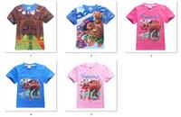 Wholesale Kids T Shirt Cartoon Designs - 5 designs New Boy Kids Moana girls boys T-Shirt Cartoon Short Sleeve Top Tees 30Pcs Lot