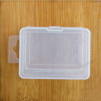 Wholesale Korean Cosmetics Wholesale Free Shipping - Transparent Plastic Storage Box For Coin Sample Container Jewelry Cosmetic Small Part Boxes Free Shipping ZA4000