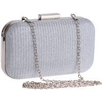 Wholesale hard glitter clutch bags online - Shiny Glitter Silver Black Bridal Hand Bags Clutch Bags For Formal Party Occasions with Chains Ladies Minaudiere Bags CPA956