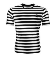 Wholesale Green Stripe Long Sleeve Shirt - Men T shirt Brand Clothing Stripe Tee Shirt BALRED Tops Letter Printing Cotton Euro Size T-shirt High quality Fitness BALR Tshirt