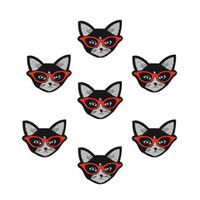 Wholesale Diy Cat Bag - Diy cats patches for clothing iron embroidered patch applique iron on patches sewing accessories badge stickers on clothes bags DZ-166