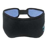 Wholesale Travel Rest - Bluetooth Smart Eye Aid Mask Travel Sleep Rest Eye Shade Cover Blindfold Sleeping Headband Wireless Music Sleeping Eye Masks CCA7445 50pcs