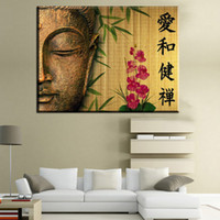 Wholesale Modern Face Oil Painting Canvas - ZZ458 modern decorative canvas art buddha half face canvas pictures oil art painting for livingroom bedroom decoration unframed