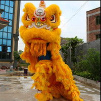 Mascot Costumes S Lion Dance Mascot Costume quality Sell like hot cakes Woollen Lion Dance Mascot Costume Southern Style Bamboo Weaving Head Fur Celebration Party Outfit