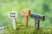 Wholesale Sale Crafts - sale~12 pcs mixed designs sign board fairy garden gnome animals moss terrarium home decor crafts bonsai doll house miniatures