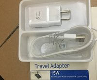 Wholesale Travel Plug Set - 50pcs fast charger set 15W travel ader USB cable 2 in 1 quick charging wall plug set UK US EU With retail box for sang gxy s6 note4 HOT