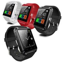 sincronização bluetooth venda por atacado-Smartwatch bluetooth smart watch u8 relógio de pulso do esporte com pedômetro mensagem sms sync chamada lembrete câmera remota