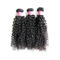 Wholesale Long Curly Human Weave - 3Pcs lot 8A Brazilian Virgin Hair Extension 100% Unprocessed Remy Human Hair Weaves Weft Kinky Curly Dyeable Long Lifetime Free Shipping