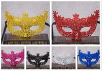 Wholesale Order Wholesale Wedding Supplies - Hot sale The new hollow small fox gold powder chip fancy dress show mask wedding photography supplies PH037 mix order as your needs