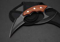 Wholesale 2018 new knife Fury7 claw knife hunting kniife puching Knives EDC knife blade wood handle nylon sheath