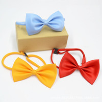Wholesale Wedding Decorations Rabbit - Dog Tie Adjustable Pet Grooming Accessories Rabbit Cat Dog Bow Tie Solid Bowtie Puppy Lovely Decoration wa3225