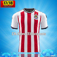 Wholesale Sleeveless Vests - New 17-18 Chivas de Guadalajara Sleeveless Red and blue soccer training vest Soccer jersey 2018 Mexico Club 2017 Correct version Shirts