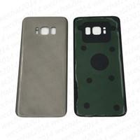 задний корпус samsung оптовых-Оригинальный аккумулятор Дверь задняя крышка корпуса стеклянная крышка для Samsung Galaxy S8 G950 G950P S8 Plus G955P с клейкой наклейкой