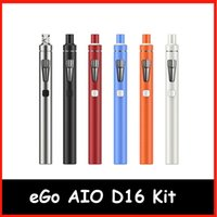 Wholesale Ego Ecigarette Batteries - Original Joytech eGo AIO D16 Kit 2ml atomizer BF SS316 0.6ohm cois 15000mAh Battery & Authentic joyetech eGo AIO D16 ecigarette authentic