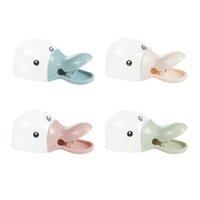 Wholesale Duck Clips - 2 in 1 Creative Duck Shape Plastic Shovel Handled Spoon With Bag Clip Food Sealing Clip Seal Shovel Kitchen Accessories ZA3129