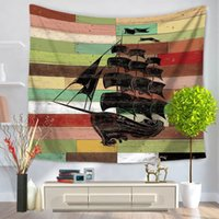 Wholesale Beach Paddles - Pirate Tapestry Ship Paddle Elephant Home Decorative Tapestry Polyester 130 Cm X 150 Cm Beach Towel Fashion Sofa Wall Decor