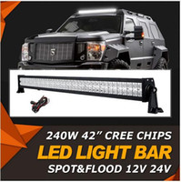 240W 42 Zoll CREE Chips LED Licht Bar Offroad Strahl Combo Led Arbeit Licht Bar 12v 24v LKW ATV SUV 4WD 4x4 Fahrlampe