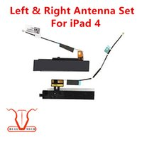 Wholesale Ipad4 Cables - For iPad 4 Original New Left and Right Antenna for iPad4 Long and Short Signal Flex Cable Repair Parts Replacement DHL Free Shipping
