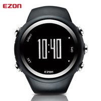 Wholesale Digital Monitor Calories - Wholesale- EZON GPS Distance Speed Calories Monitor Men Sports Watches Waterproof 50m Digital Watch Running Hiking Wristwatch Montre Homme
