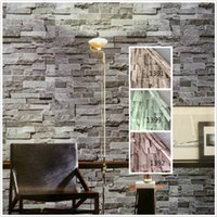 Wholesale Rolling Stones Stickers - Pvc Vinyl Modern Faux Brick Stone 3D Wallpaper Living Room Bedroom Bathroom Home Wall Sticker Decoration ,0.45M *5M  Roll With Glue