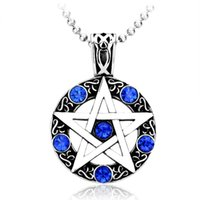 Wholesale Star Necklaces For Women - JLN 316L Titanium Stainless Steel David Star Pendant For Women Men High Quality Fashion Jewelry