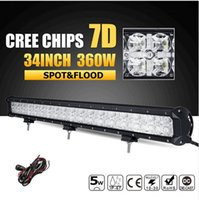 Prezzo di fabbrica 7D 34inch 360W CREE Chips LED Light Offroad barra combinata guidata barra di luce professionale 12v 24v di guida camion SUV ATV 4x4 4WD pickup