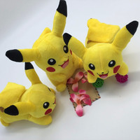 Wholesale Soft Teddy Bears Wholesalers - 22cm Pikachu Plush Toys Children Gift Cute Soft Toy Cartoon Pocket Monster Anime Kawaii Baby Kids Toy Pikachu Stuffed Plush Doll
