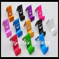 Wholesale Aluminium Iphone5 - New Aluminium Metal support Demon Stents Phone Stand Holder for iPhone4s for iPhone5 Galaxy S3 for HTC One Drop Shipping