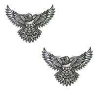 Wholesale Tattoos Eagles Designs - Perfect Morale Eagle Embroidery Patch Tattoo Ink Art Design Jacket Patches Biker 28cm*21cm Iron Patch Free Shipping