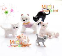 Wholesale Miniature Dollhouse Pets - G05-X4419 children baby gift Toy 1:12 Dollhouse mini Furniture Miniature rement-lovely pet cat and dog 2pcs set