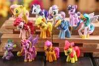 Wholesale Cute Toys For Dogs - 12pcs (5-6cm) set toys collection dog cute patroled pvc unicorn pony toys for children birthday christmas gift doll