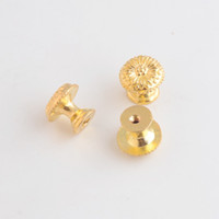 Vente en gros - Livraison gratuite 4PCs Golden Jewelry Wooden Box Pull Handle Dresser Drawer pour cabinet de porte ronde 17x15mm F1093