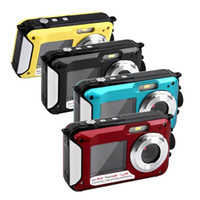 Wholesale fix cmos camera - 2 quot inch Double Dual TFT Screen Waterproof Digital Camera Max MP P DV x Digital Zoom Camcorder