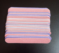 Wholesale Disposable File - Wholesale- 2016 New! 100pcs double color 85mm nail files Pink&Purple wood Nail File 180 240 Disposable Manicure Tools.