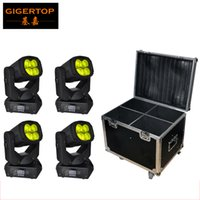 4in1 Flight Case Packing Mais recente 2015 LED Super Beam Moving Head Light 4 * 25W Mini DMX Stage Strong Beam Effect Light 9 15 canais