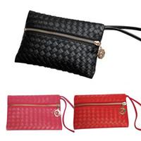 Wholesale Little Girls Pouches - Wholesale- Fashion Clutch Little Small Mini Pencil Phone Zipper Change For Lady Girl Women Coin Purse Case Wallet Female Bag Pouch Brand