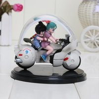 Wholesale Dragon 11 - 8cm Dragon Ball Z Son Goku Bulma Motorcycle PVC Action Figure Collectible Model Toy