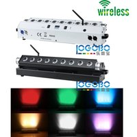 Wholesale Led Lighting For Wedding Receptions - Cheap 2Pcs lot 9x15w RGBWA 5 in 1 Wireless Battery Powered DMX LED Wall Washer Light for Wedding Reception Party Decor Event DJ Uplighting