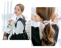 Wholesale Hair Claws Gripper Clips - Fashion Simple Chain Ring Double Gripper Plaid Bow Cloth Banana Clip Hairpin Hair Accessories Hair Claws For Women Headwear