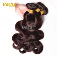 Wholesale Double Drawn Virgin - remy Body Wave 3 double drawn Bundles Malaysian Body Wave 99j Burgundy Red Hair Bundles virgin Human Hair Extensions Color #4 #27 #30 #33