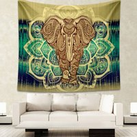 Compra Yoga Indiano-Arazzi Indian Mandala Wall Tappezzeria Throw Coperta Hippie Wall Hanging Arazzi Tovagliolo da spiaggia Yoga Mat Tovaglia Tabella 2 dimensioni