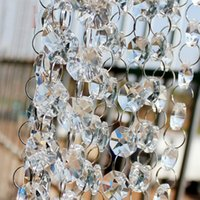 Wholesale Crystal Strands Decorations - 100 meter per lot clear glass crystal beaded garland strand wedding event party DIY hanging decoration Christmas tree chandelier decor