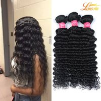Wholesale nature weave - 100% Brazilian Human Hair Extension Weaving Nature Color Free Shipping Brazilian Deep Wave Virgin Hair Extension Machine Double Weft