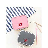 Wholesale Pill Pouches - Gray Pink Portable Pill Medicine Storage Bags 2017 Packing Travel Luggage Pouch Organizer Medicine KIT fast Shipping F2017700