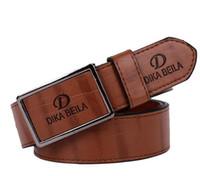 Wholesale Girls Brown Leather Belts - NEW Fashion big large buckle belts for men genuine leather gold belt designer belts Men high quality original belts free shipping