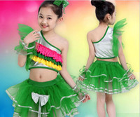 Wholesale Dance Wear For Kids - 2017 younth belly dancing skirt, stage wear for girls, kids festival competition veil costumes, Jazziness Latin dance skirt as performance