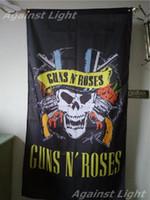 Wholesale Hard Walls - Guns N Roses Poster Flag 90 x 150 cm Polyester GnR Old School Hard Rock Music Wall Hanging Banner