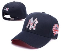 Unisex black ny hats - 2017 Yankees Hip Hop MLB Baseball Hats Snapback NY Caps Adjustable Cool Men Casual MLB Team Logo Outdoor Unisex Sports New York Women Casque