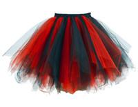 Wholesale Petticoat Skirts Dance - Rainbow Tutu Adult Outfits Royalblue Green Petticoats Crinolines Women Bubble Tulle Dance Costum Cosplay Tutus Party Top Skirt