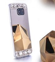 Wholesale Iphone 4s Fashion Covers - For iphone 7 7plus 6s 6splus 5s 4s 6 6plus Rhinestone Mirror phone case plating plating Fashion creative mobile phone cover
